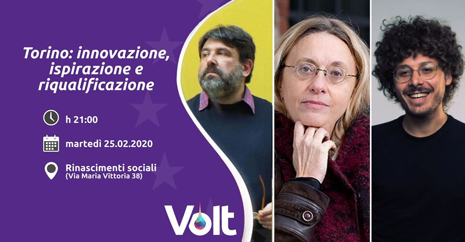 Serata innovazine Volt Torino